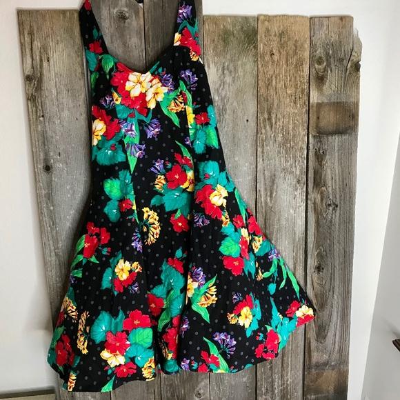 112cf64889f Joni Blair Vintage Hawaiian Floral Halter Dress. M 5a5032ae61ca109e5801c61d